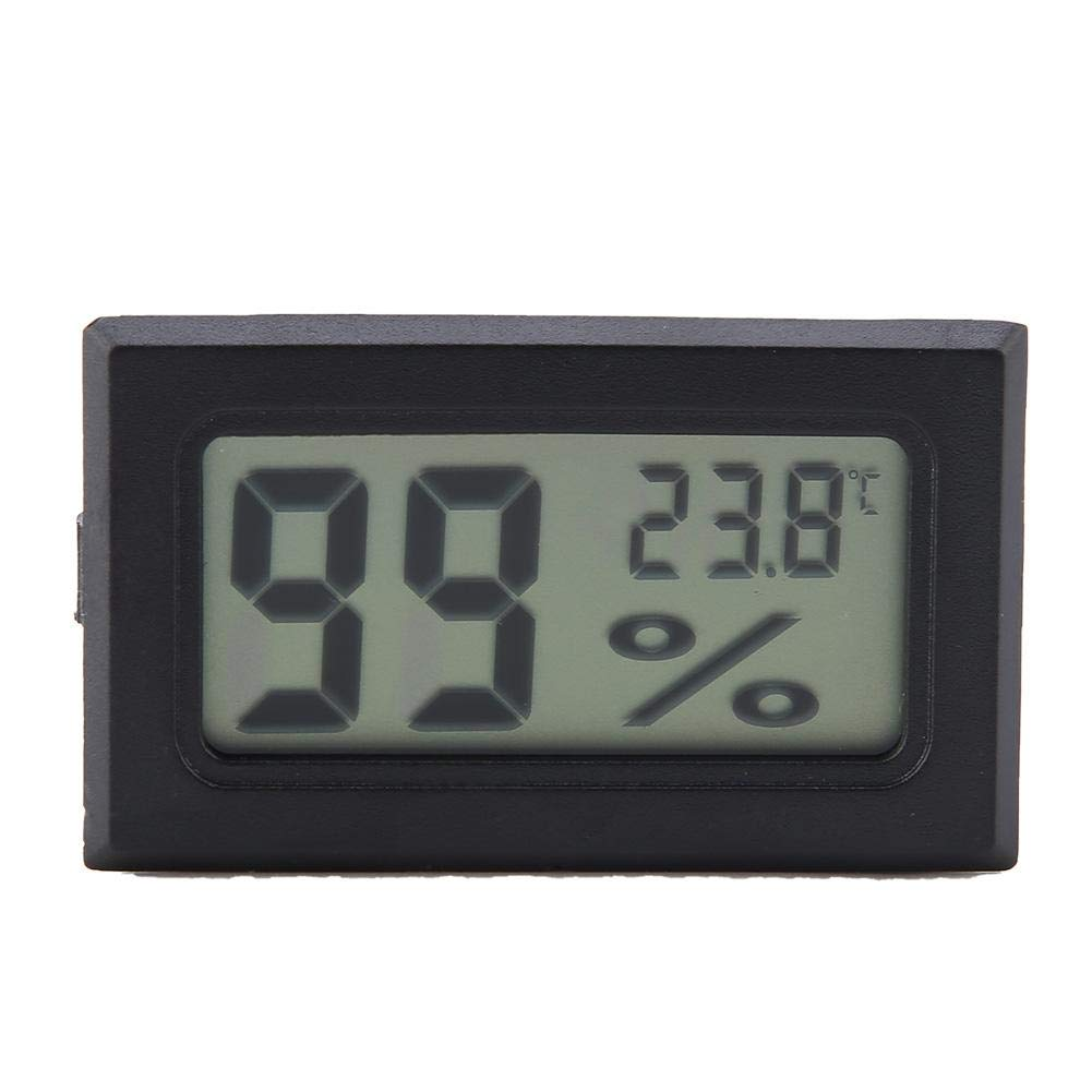 casa//ufficio e serra Indicatore di umidit/à digitale YS-11 Wireless Indoor Termometro Display LCD Misuratore di umidit/à di temperatura Mini Igrometro per rettili Vivarium