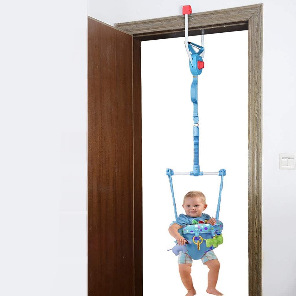 ベビージャンパー ドアクランプ、ベビーバウンサー戸口楽しいハンギングジャンプシート少年少女の赤ちゃんエクセ子供のおもちゃ、3色のベビードアジャンパーエクセ (Color : Blue)