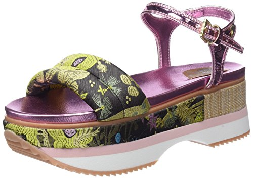 Gioseppo 43366, Sandales Bout Ouvert Femme Multicolore (Marrón-ros)