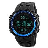 SKMEI Digital Watches for Men Japanese Quartz Movement Backlight 50M Waterproof Rubber Strap Dress Watch Sport Wrist Watches