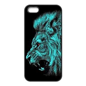 Blue Lion Art IPhone 5,5S Case, [Black]