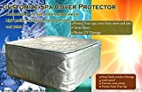 Customize any size thermo hot tub cover cap with isolation,78'',80''&84'' prevent snow,water&sunshine (8fx8fx35in)