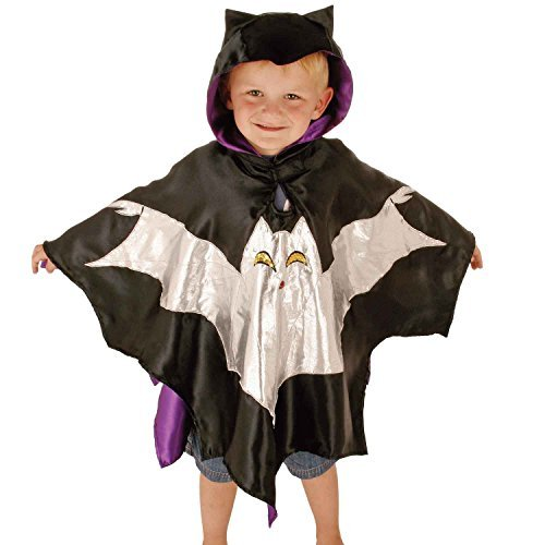 tienda de venta en línea Amazing negro Kids Bat Costume Costume Costume - Luxury Handmade Kids Bat Halloween Fancy Dress Costume (3-8 years) Slimy Toad by Lucy Locket  marcas en línea venta barata