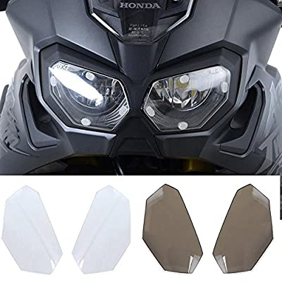 XX eCommerce Motorcycle Motorbike Front Headlight Screen Cover Shield Guard Lens Protector for 2016-2017 Africa Twin Honda CRF1000L 16-17