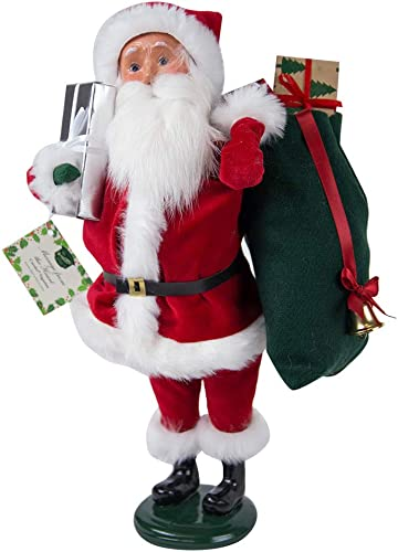 Byers Choice Message Santa Caroler Figurine ZBC79 from The Holiday Traditions Collection