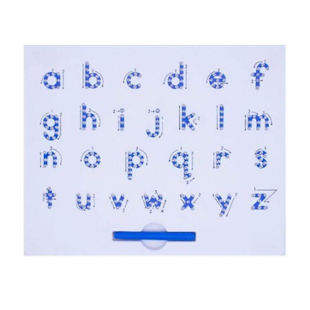 hinffinity Tableau De Dessin Magn/étique Alphabet Conseil De Tra/çage Enfants Lettres Minuscules Tablette Magn/étique Jouet /Éducatif de A /À Z Apprentissage Cadeau Pr/éscolaire pour Les Enfants