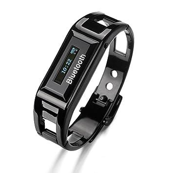 Reloj Bluetooth del teléfono móvil de la pulsera de reloj de pulsera de identificación del llamante