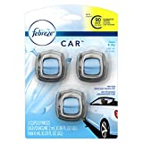 Febreze CAR Vent Clips Linen & Sky Air Freshener 3 Count - Packaging May Vary