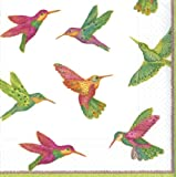 Caspari Entertaining 20-Pack Hummingbirds Luncheon Napkins