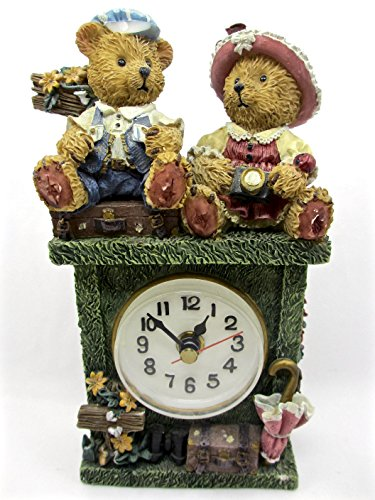 (Teddy Bear Mantle Clock,resin,numbers,second Hand,battery Power)