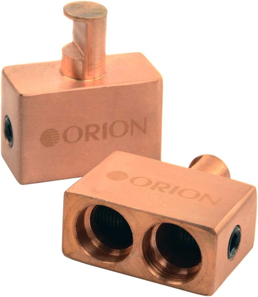 Orion Dual Input Amplifier Adapter Two 0 Gauge to One 0 Gauge Copper Blocks New