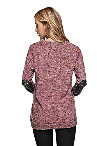 Shopglamla Sequin Elbow Oversize Sleeves