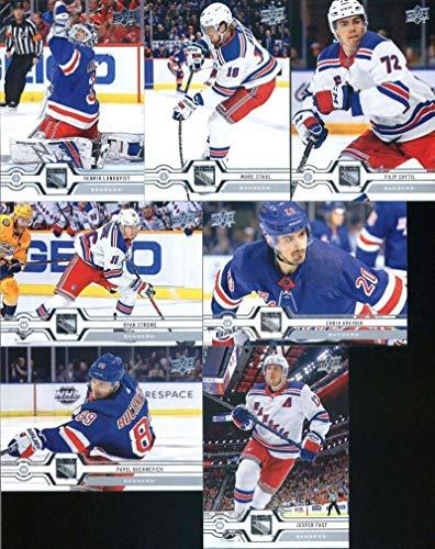 New York Rangers 2019-20 Upper Deck Series 1 Veteran NHL Team Set Hockey Team Set of 7 Cards: Chris Kreider(#84), Pavel Buchnevich(#85), Jesper Fast(#86), Ryan Strome(#87), Filip Chytil(#88), Marc Staal(#89), Henrik Lundqvist(#90) from Upper Deck Series One