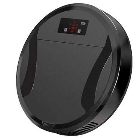 XLUOYI Robot De Barrido Inteligente Hogar Aspiradora Limpiador De Trapo Fino Máquina De Limpieza,Black