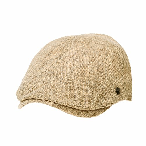 WITHMOONS Flat Cap Summer Cool Ivy Style Neutral Color Newsboy Hat AM3998 (Beige)