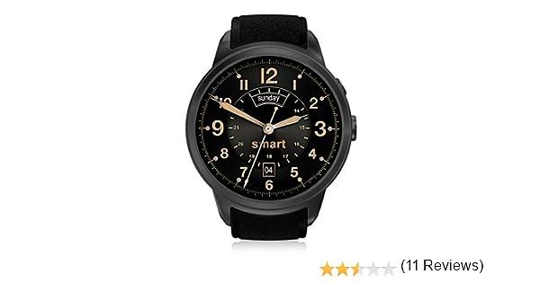 DIGGRO DI01 smart watch Android 5.0 MTK6580 1GB/16GB Nano SIM 3G WIFI 2.0MP reloj inteligente cámara llamada monitor de ritmo cardiaco pedometer recordatorio de tiempo de salud para Andriod y IOS (negro)