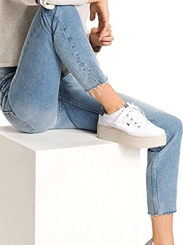 Blue Jeans Hilfiger Rigid Mujeres Tommy DW0DW04167 Light dxq8wOXE