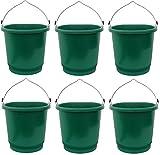 Farm Innovators FB-80 3 Gallon Heated Flat Back Buckets - Quantity 6