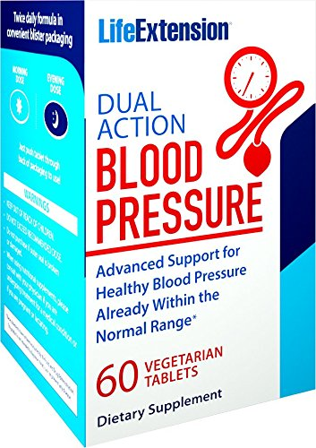 Life Extension Dual Action Blood Pressure (Day and Night Blood Pressure Support) 60 Vegetarian Tablets