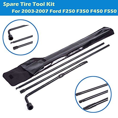 (Spare Tire Tool Set Fits Ford F250 F350 F450 F550 Super Duty Pickup Truck Extension Lug Wrench Tools Replacement Kit)