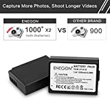 LP-E10 ENEGON Replacement Battery (2-Pack) and Rapid Dual Charger for Canon LP-E10 and Canon EOS Rebel T3, T5, T6, Kiss X50, Kiss X70, EOS 1100D, EOS 1200D, EOS 1300D.(100% Compatible with Original)