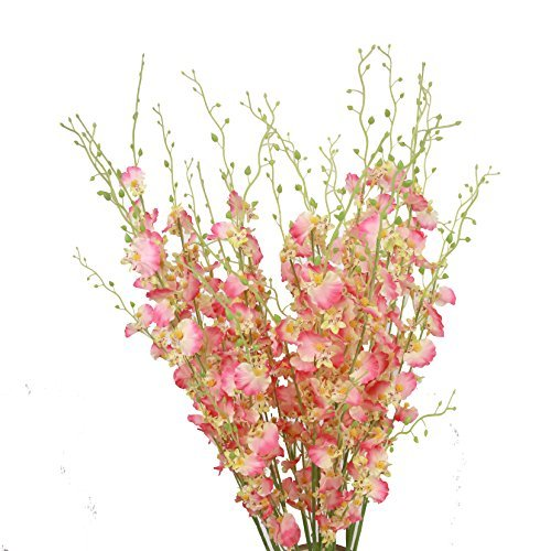 (Misswarm 10 PIECES of Dancing Lady Orchid Liquid Illusion Silk Flower Arrangement by Misswarm)