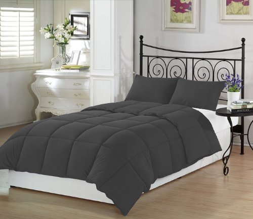 Charcoal Twin Extra Long Comforter Set By Ivy Union