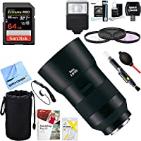 Zeiss 2136-695 Batis 135mm f/2.8 Lens for Sony E Mount + 64GB Ultimate Filter & Flash Photography Bundle