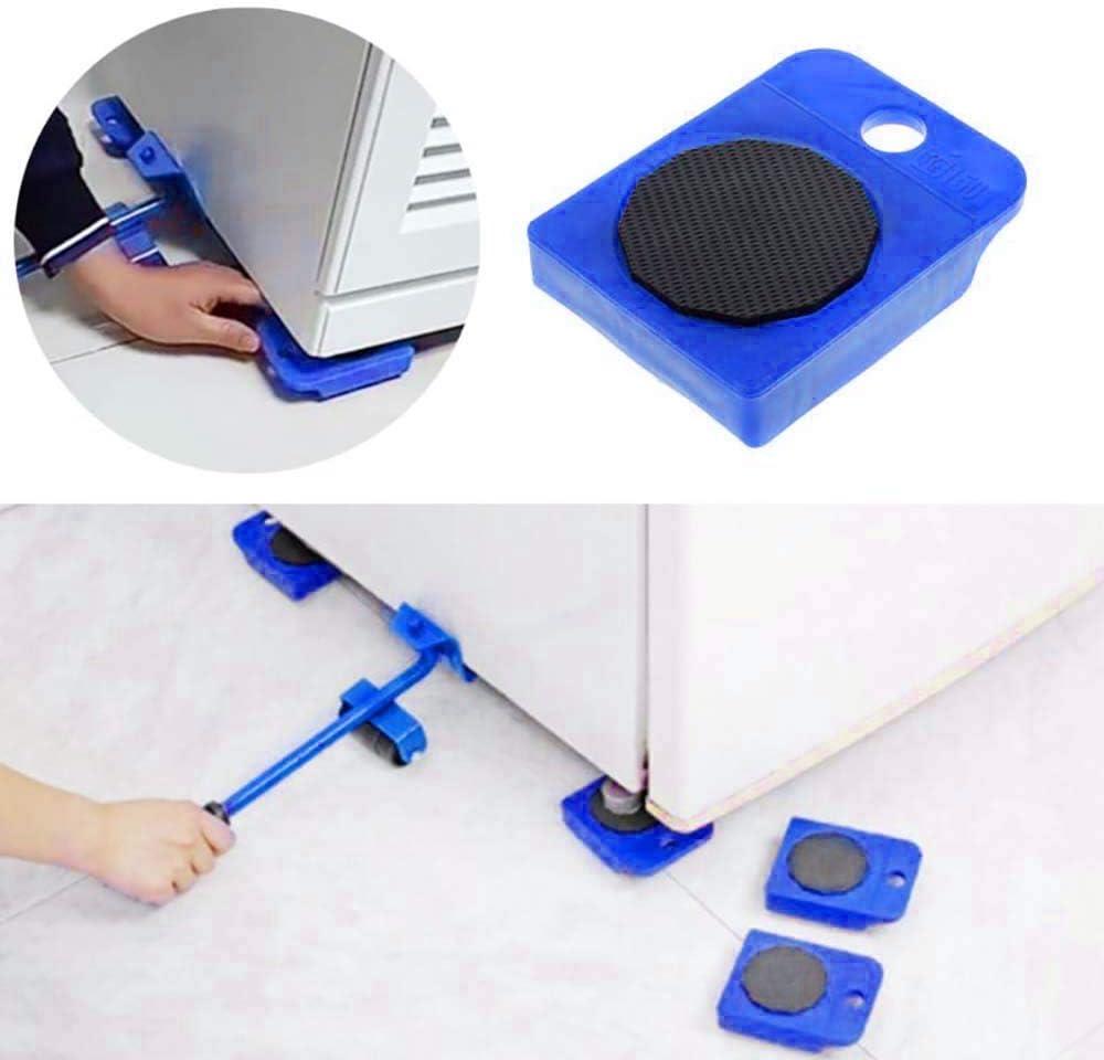 Lot de 4 rouleaux de d/ém/énagement portables pour meubles lourds et rotatifs /à 360 degr/és Pour 150 kg Rouge