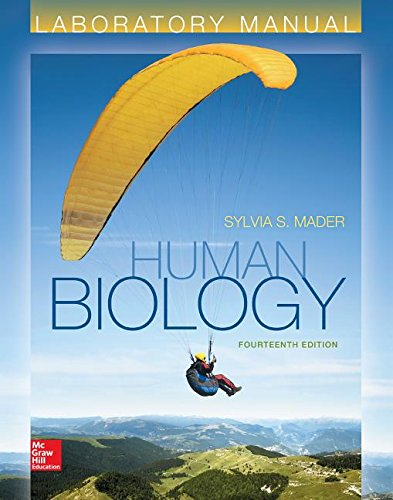 Lab Manual for Human Biology -  Sylvia S. Mader Dr., 14th Edition, Spiral-bound