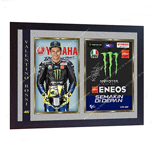 (S&E DESING New Valentino Rossi Signed Autographed Print Photo Poster Framed)