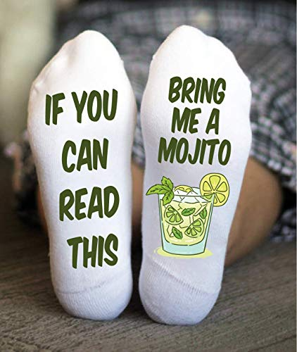 Mojito Socks Adult Tropical Beverage Birthday Party Funny Gifts
