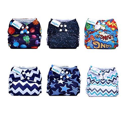 Mama-Koala-Pocket-Cloth-Diapers-6-pcs-6-Inserts-One-Size