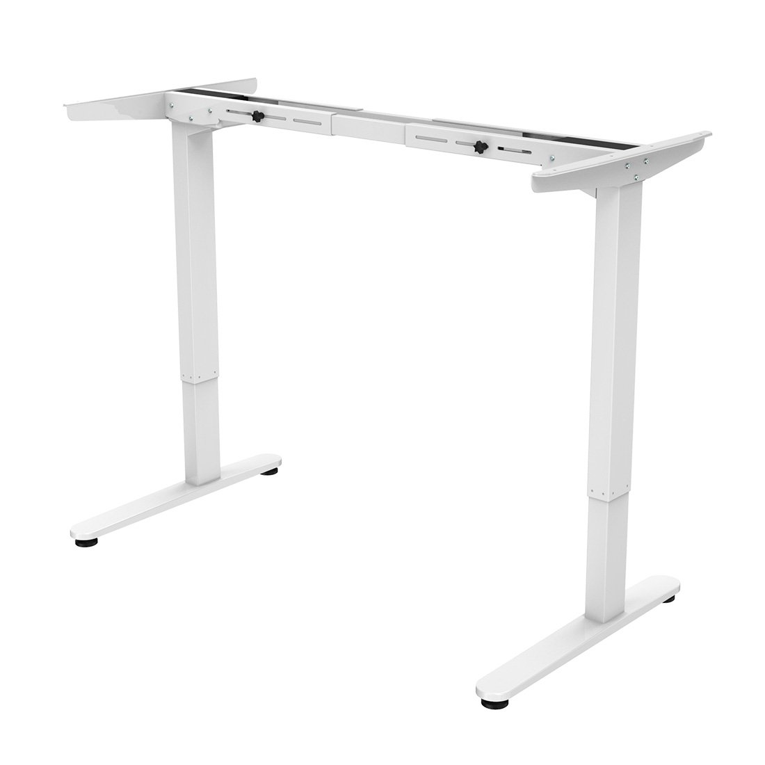 FlexiSpot 48'' Electric Height Adjustable Standing Desk Frame Only Ergonomic Solid Steel Dual Motor Sit Stand Desk W/ 7-Button, White