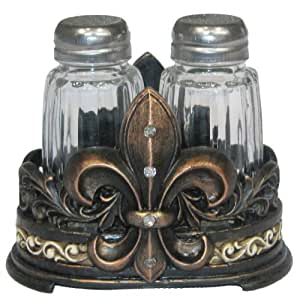 LL Home Fleur-de-lis Salt and Pepper Shaker Set by LL Home