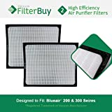 200 300 Series Particle Filters. Designed by FilterBuy to fit Blueair 200 & 300 Series Air Purifiers.