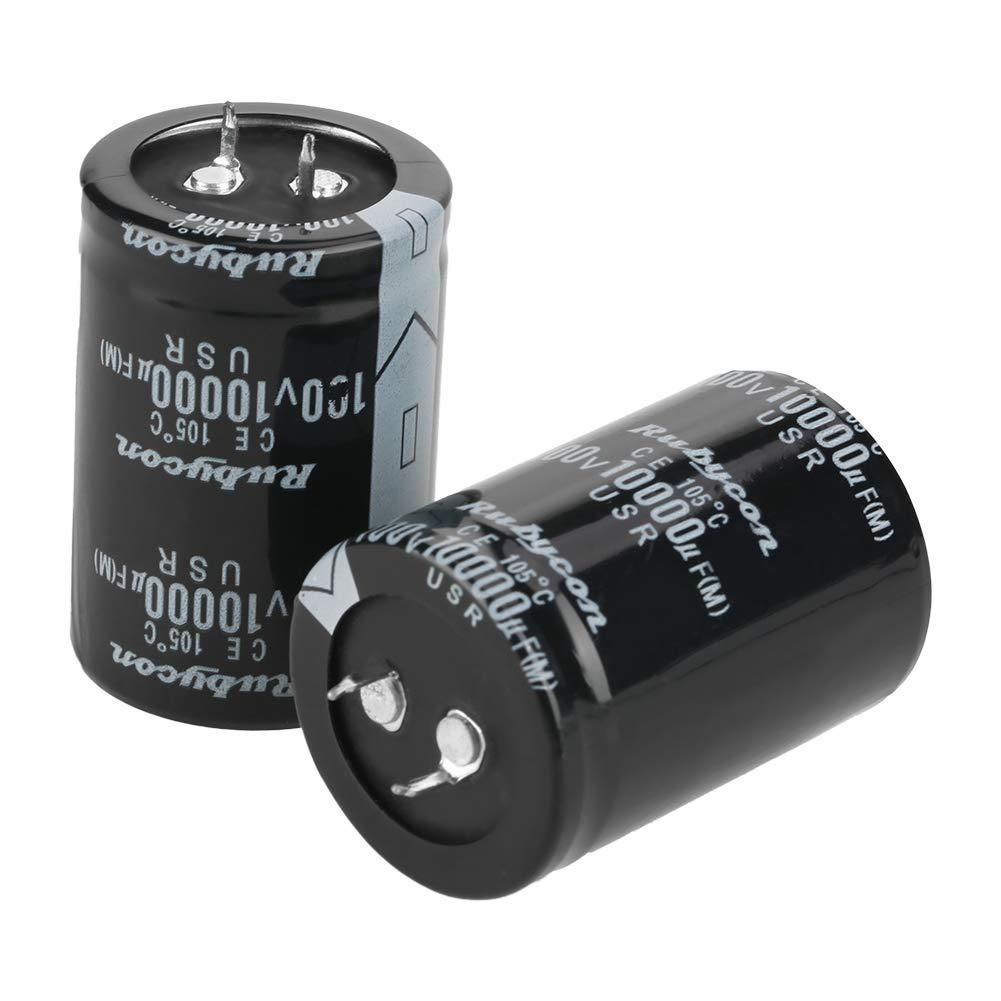 ELECTROLYTIC CAPACITOR 100V 10000UF CYLINDRICAL ALUMINUM ELECTROLYTIC CAPACITOR BLACK