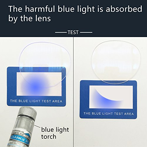ANRRI Blue Light Blocking Glasses for Computer Use, Anti Eyestrain Headache UV Filter Gaming Eyeglasses Lightweight Frame, Tortoise, Man/Women by ANRRI (Image #6)
