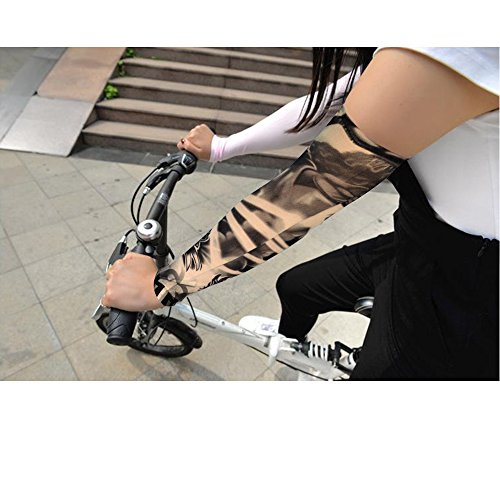 HOVEOX 20pcs Temporary Tattoo Arm Sleeves Arts Fake Slip on Arm Sunscreen Sleeves Body Art Stockings Protector -Designs Tribal, Tiger, Dragon, Skull, and Etc Unisex Stretchable Cosplay Accessories by HOVEOX (Image #5)