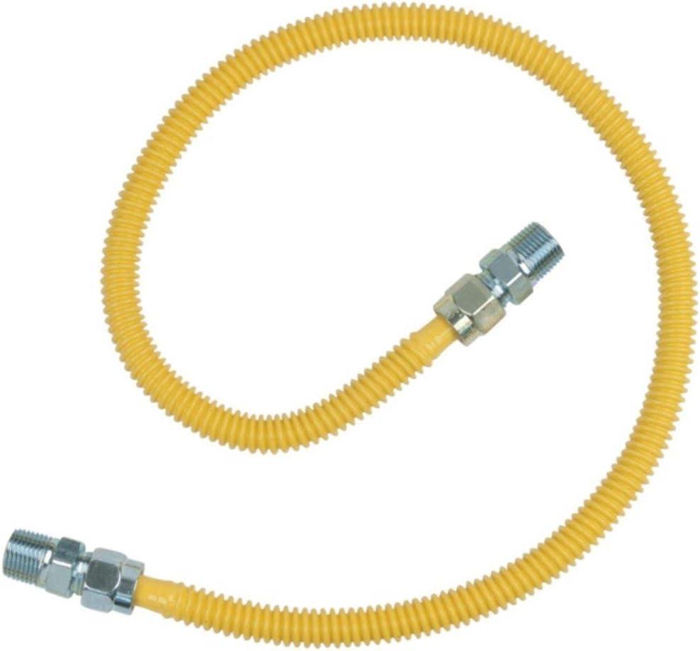 BRASSCRAFT CSSD44-36 Gas Range & Gas Furnace Flex-Line (1/2 OD x 36, 1/2 MIP x 1/2 MIP, Up to 71,100 BTU) consumer electronics Electronics