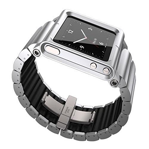 MOSTOP® Aviation Aluminum Material Watch Band Wrist Strap for iPod nano 6 (6th Generation) - Silver