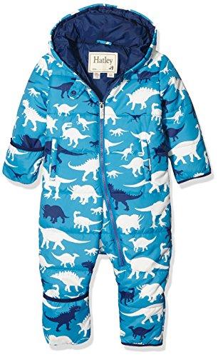 Hatley Baby-Jungen Schneeanzug Puffer Bundler-Silhouette Dino, Blau, 92