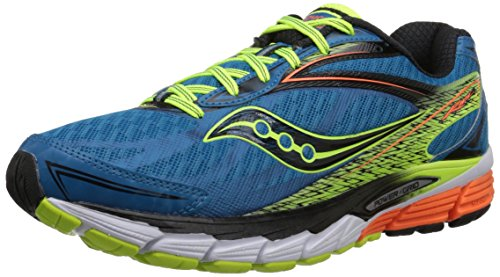 Saucony Ride 8 - Zapatillas de running unisex, color azul / amarillo / naranja, Azul (Deepwater / Citron / Orange), 46.5