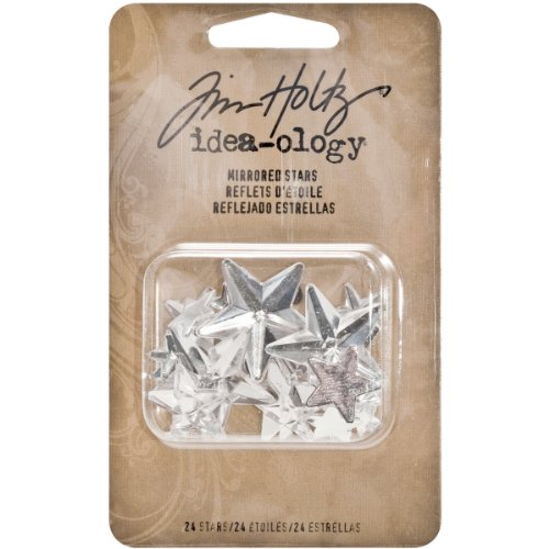 Mirrored Stars by Tim Holtz Idea-ology, 24 Faceted Stars per Pack, 0.25 to 1 Inch Assorted Sizes, TH93083]()
