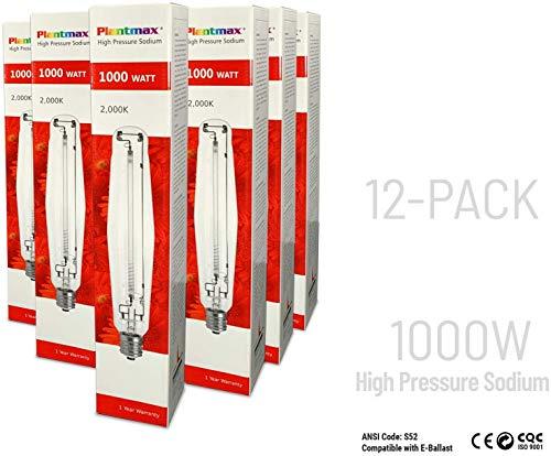 Plantmax 1000 Watt High Pressure Sodium Lamp - 12 Pack
