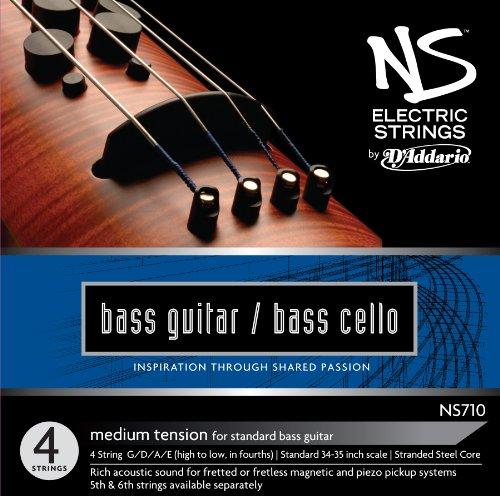 D'Addario NS Electric Bass/Cello String Set, 4/4 Scale, Medium Tension - Bass Sets Cello