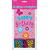 Wild Birthday Cellophane Bags, 20ct