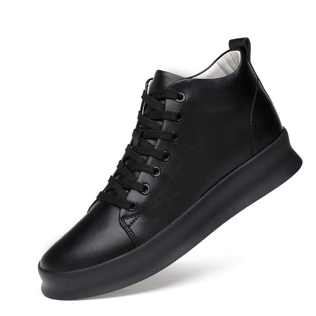 YAN Herren Freizeitschuhe, Mikrofaser Deck Schuhe Fashion Fashion Fashion High-Top Schuhe Unsichtbare Erhöhung Stiefel Lace Up Wanderschuhe Schwarz Weiß (Farbe   B, Größe   40) B07JKNHL3P Basketballschuhe Macht das Leben 884561