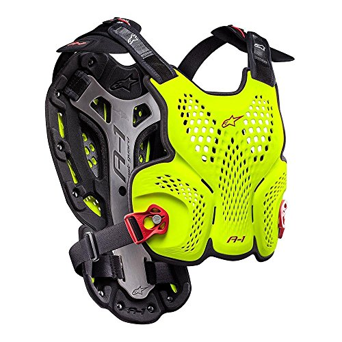 Alpinestars 6700116-553-XXL A-1 BlackJack Limited Edition Roost Guard (Yellow Fluo/Red, XL-2XL) by Alpinestars