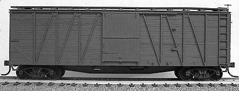 40' Single-Sheathed Wood Boxcar w/Wood Doors & Wood Ends - Kit -- Undecorated ()
